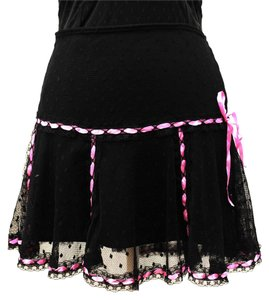Betsey Johnson Low Rise Free People Anthopologie Outfiter Skirt black lace