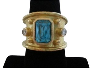 Elizabeth Locke SALE!!! Elizabeth Locke Ring Blue Topaz and Diamond