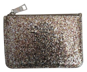 Coach Nwt Coach Gold And Silver Leather And Glitter Cash Coin Wallet Bag