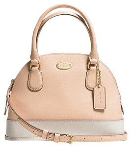 Coach Satchel Cora Bi Color Cross Body Bag