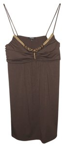 Rhapsody Padded Sleeveless Top Brown
