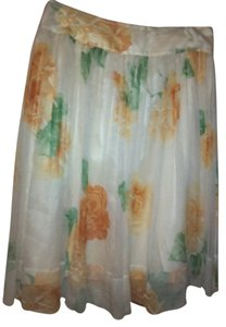 Teri Jon 100% Silk Skirt Buttercup