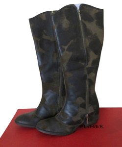 5bea9054586 Donald J. Pliner Suede Vintage Suede Leather Cowboy Western Riding Stacked  Heel Zippers Olive