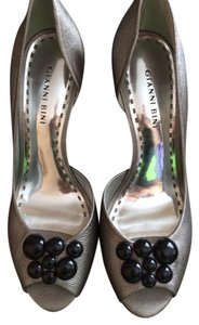 Gianni Bini Silver Pumps