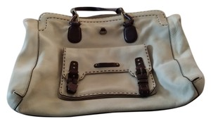 Ellen Tracy Satchel in Cream & Dr. Brown trim