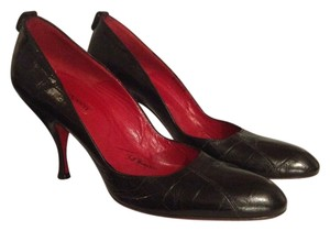 Cesare Paciotti Formal Leather Black Pumps