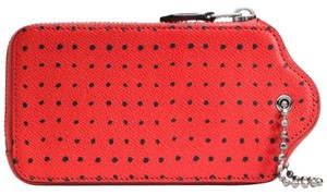 Coach Wristlet in Blac/Red w/dots