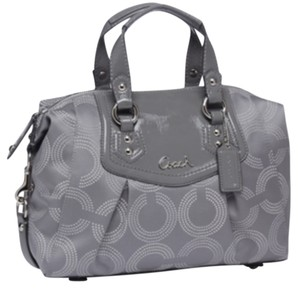 Coach Ashley Dotted Satchel in Light grey