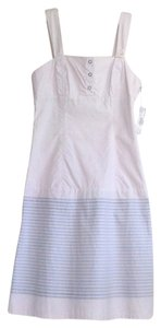 Volcom short dress Beige Cotton Striped Stone on Tradesy