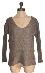 Free People Pullover Knit Alpaca Taupe Sweater