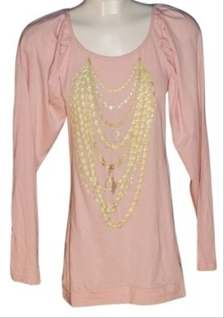 Baby Phat Top Peach/Pink with Yellow