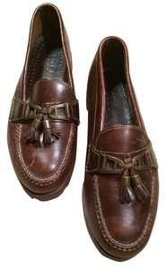 Cole Haan Ladies Comfort Leather Brown Flats