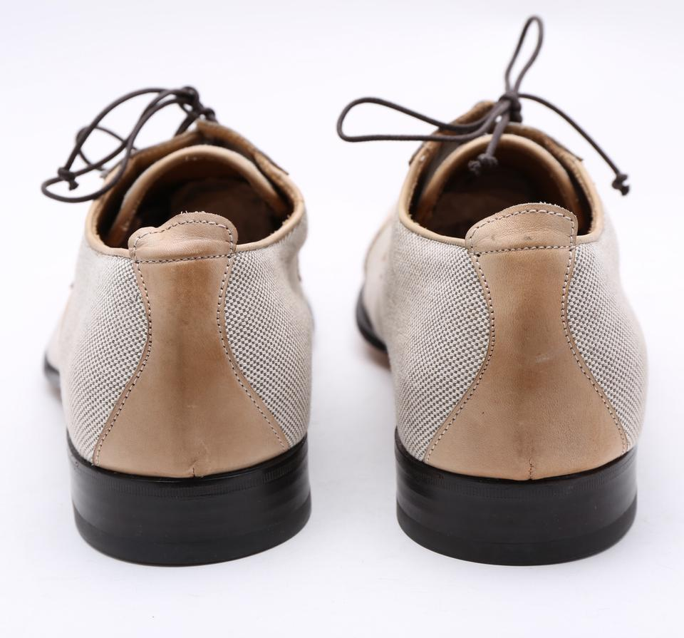 a9167ba6b183 Multicolor Mens Canvas Lace Up Leather Cap Toe Dress Flats Size US ...