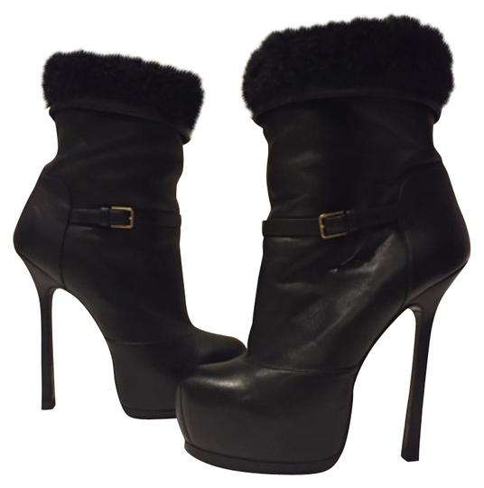 Preload https://item4.tradesy.com/images/saint-laurent-black-tribute-ysl-shearling-leather-ankle-355-bootsbooties-size-us-55-regular-m-b-11472103-0-3.jpg?width=440&height=440