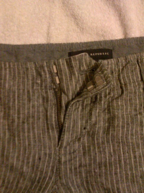Banana Republic Linen Dress Shorts gray/white stripes