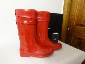 Coach Rubber Rouge Red Boots