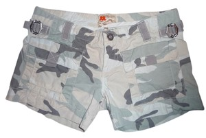 Twill Twenty Two Military Cargo Shorts Seashell Camo