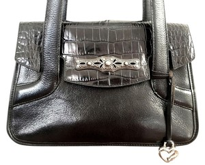 Brighton Satchel Moc Croc Shoulder Bag