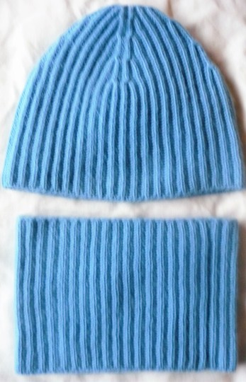 TSE Rib Knit Cap and Neck Warmer