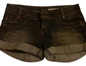 DKNY Cotton Mini/Short Shorts dark blue wash