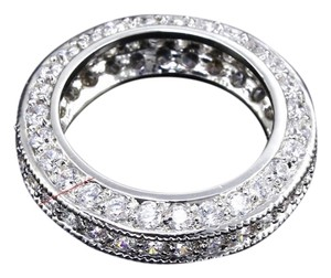 Cubic zirconia Brand new platinumed plated cubic zirconia ring