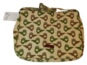 Bungalow 360 New Canvas Cream Green Cream, Green, Brown Messenger Bag