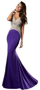 Janique Size 6 Prom Evening Gown Strech Long Dress