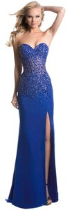 Janique Prom Evening Gown Strech Long Size 4 Dress