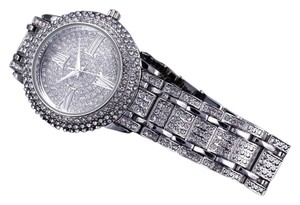 Brand new cubic zirconia watch water resistant platinum plated