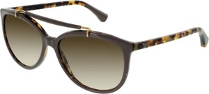 Emporio Armani Emporio Armani Women's Gradient EA4039-526513-56 Brown Oval Sunglasses