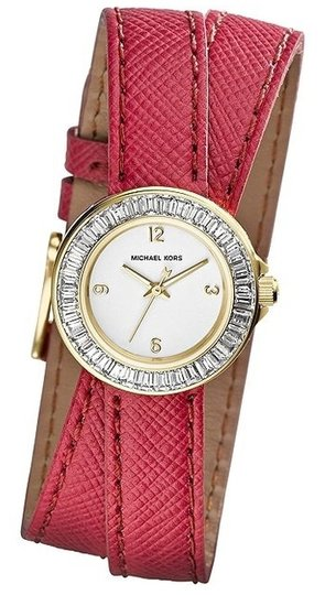 Preload https://item1.tradesy.com/images/michael-kors-w-bonus-baguette-crystal-pink-saffiano-leather-wrap-watch-1147490-0-0.jpg?width=440&height=440