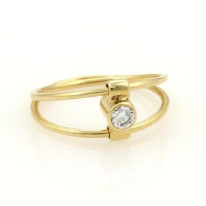 Tiffany & Co. Tiffany Co. Diamond Sapphire 18k Gold Reversible Double Wire Band Ring