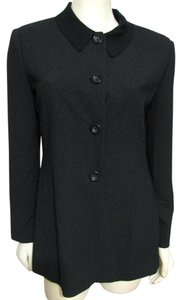 Tahari Jacket Office Formal Wear Buttoned Size 10 Medium M Usa Classic black Blazer