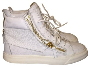 Giuseppe Zanotti White with gold zippers. Athletic