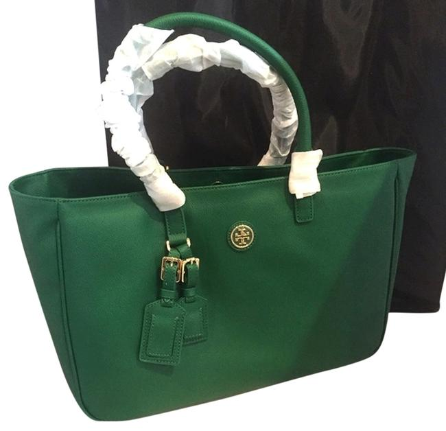 Item - Roslyn Luggage Emerald Stone Leather Tote