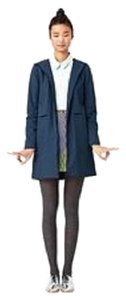 Kate Spade Parka Hooded Blue Waterproof Coat