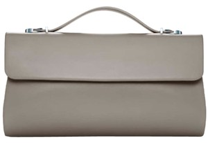 Tiffany & Co. Sutton Handbag Taupe Clutch