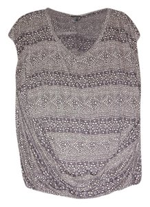 Ella Moss Loose Tribal Print T Shirt Gray