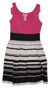Candie's short dress pink, black, white on Tradesy