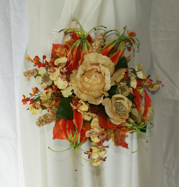 Bright Autumn Bridal Bridesmaid Bouquet In Silk Other Bright Autumn Bridal Bridesmaid Bouquet In Silk Other Image 1