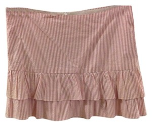 Aqua Mini Skirt pink and white