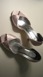 Michelangelo David's Bridal Shellie Peep Toe Heel With Scalloped Edge Wedding Shoes