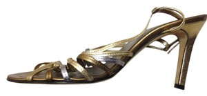 Anne Klein Gold, bronze and silver Sandals
