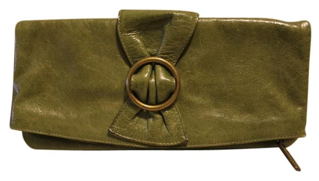 Hobo Olive Green Leather Clutch Hobo Olive Green Leather Clutch Image 1