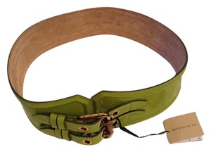 Burberry BURBERRY PRORSUM LIME GREEN PATENT LEATHER BELT