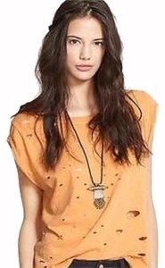 Free People T Shirt Mustard