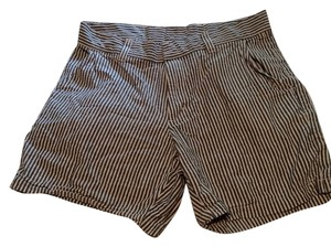 American Apparel Shorts White And Grey