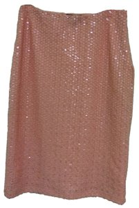 H&M Skirt Sequined pink