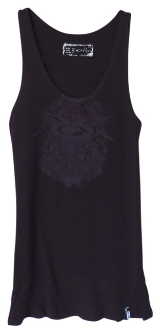 Oakley Black Graphic Tank Top/Cami Size 2 (XS) Oakley Black Graphic Tank Top/Cami Size 2 (XS) Image 1