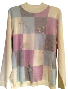 Alfred Dunner Colorblock Lovely New Sweater